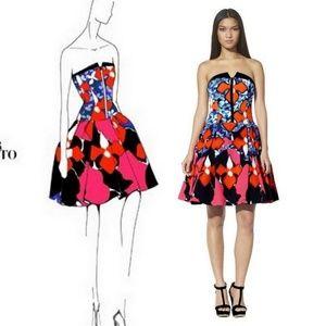 Peter Pilotto Target Jacquard Strapless Dress 6